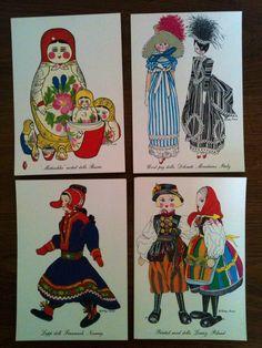 8 vintage postcards Evelyn Curro artist $36 https://etsy.com/shop/MysteryTrip