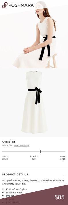 j. crew • velvet tie dress wore once J. Crew Dresses Midi