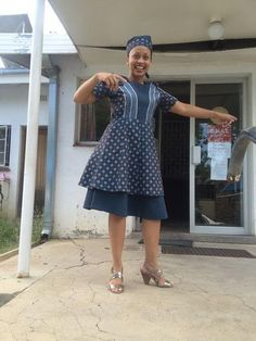 Shweshwe dresses 2020 is extremely well respected mostly in Africa. let us show shweshwe dresses for South African women to copy in her coming parties. African Print Dresses, African Dresses For Women, African Fashion Dresses, African Women, African Prints, African Children, Ankara Fashion, Diy Fashion, African Wedding Attire