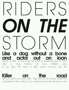 Riders on the Storm | The Doors
