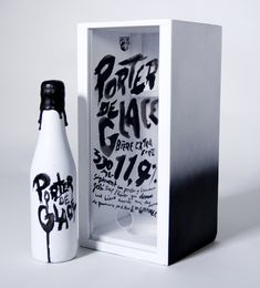 packaging | Porter De Glace - The Dieline / typography