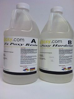 1 Gallon Ultra Clear UV resistant Epoxy (20-25 sq ft) Countertops, Table Tops, Bartops Bartop Epoxy UV