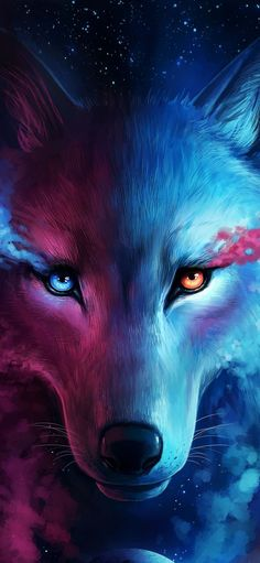 wolf galaxy wallpapers iphone backgrounds hd cool fantasy samsung s8 4k anime wolves note gettywallpapers animal artwork music 7y bigol