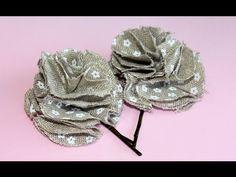 Flor de tela fácil. Easy fabric flower