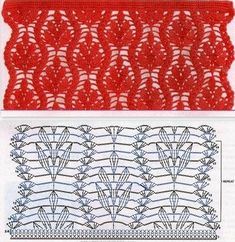 leaf crochet motif