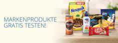 Markenprodukte gratis testen auf dem Nestlé Marktplatz
