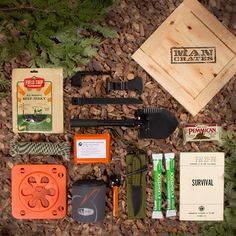 Outdoor survival crates...  All the stuff you want, but don't have the time to assemble it!  Rad! #Camping #survival