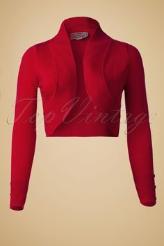 You need to have thisJean knitted Bolero in Red! It's the perfect combination between a cosy cardi and an elegant bolero.It is so cosy to wear, longsleeved so it keeps your arms warm. Perfect to grab for a night out: it is small enough to take with you in your purse and put it on when the evening gets a little chill. The perfect addition to yourvintage or rockabilly inspired wardrobewith no loss to your stylish outfit!Made from a cosy knitted stretchy fabric,...