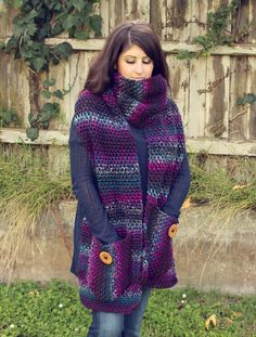 crochet - free pattern - super-sized scarf - great for charity donations