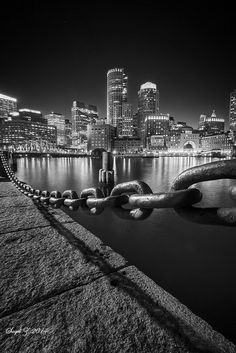 Boston Harbor in B/W by saqibz