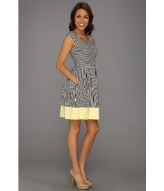 Love the cut out back on this Ivy & Blu Maggy Boutique A-Line Dress w/ Cut Out Back Black/White - 6pm.com
