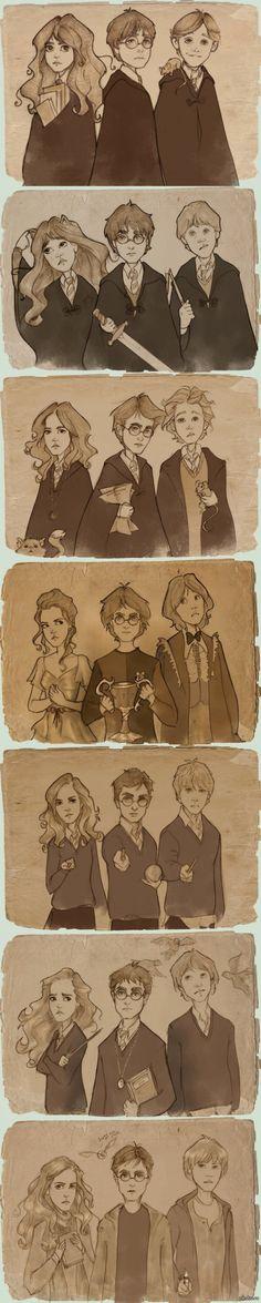 От А до Я.   гарри поттер, от а до я, герои взрослеют, рисунок, длиннопост