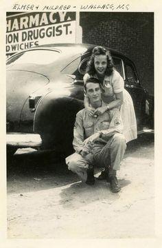 Newlyweds Elmer and Mildred