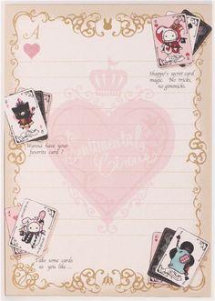 black Sentimental Circus rabbit card game Memo Pad 5