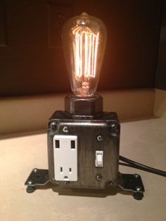 USB Table or Desk Lamp Dark finish by MartyBelkDesigns on Etsy, $95.00
