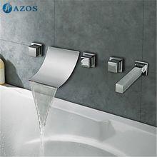 Zeitgenössische Wasserfall Dusche Badewanne Wasserhahn ... | {Badewannen armaturen wasserfall 57}