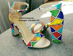 Zulu Traditional Wedding Dresses, Zulu Traditional Attire, South African Traditional Dresses, Beaded Shoes, Beaded Sandals, Zulu Wedding, African Wedding Attire, Louis Vuitton Sneakers, African Wear Dresses
