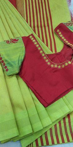 Semi raw silk with designer blouse whatsapp 9047090885 Rs 2900