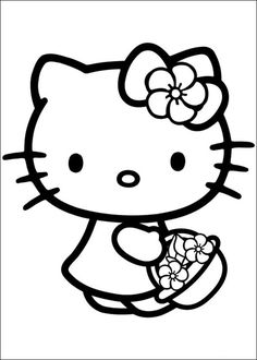 free printable hello kitty coloring pages picture 2 550x770 picture - Free Coloring Worksheets