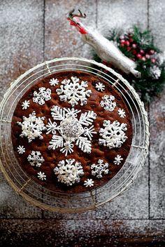 Snowflake Christmas cake decoration