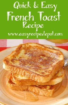 How to make delicious quick and easy French Toast. The perfect easy recipe! When your bread is close to its expiration date :)