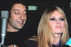 Serge Gainsbourg et Brigitte Bardot, en studio, pour préparer le show Tv qui sera diffusé pour le Nouvel An, le 23 novembre 1967