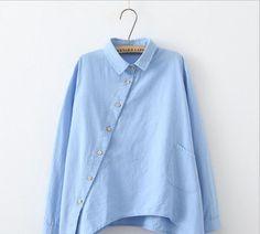 Natural Linen Front Long-Sleeve Shirt