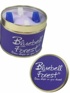 Lily Flame Scented Candle Tin - Bluebell Forest: Amazon.co.uk: Kitchen & Home