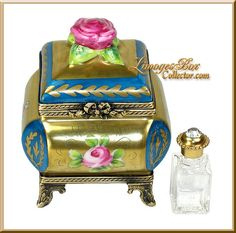 A fantastic Perfume Chest Limoges box by Beauchamp Limoges www.LimogesBoxCollector.com