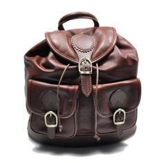 Italian leather elevates the classic backpack design of this style featuring gilded hardware and multiple pockets for separating items. Allow extra time for your special find to ship. Everyday Steampunk, Fab Bag, Brown Leather Backpack, Designer Backpacks, Cloth Bags, My Bags, Italian Leather, Fashion Accessories, Satchel