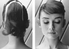 I love 50s style bows with ponytails - cute and retro.