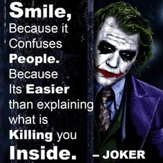 "Joker Quotes from Batman Movies - ""Stand back, fool, he he he, I've got a bomb! Oh, right."""