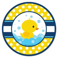 Little Ducky Paper Lunch Plates, 8 count, 9 inch Rubber Ducky Party, Rubber Ducky Birthday, Rubber Ducky Baby Shower, Distintivos Baby Shower, Ducky Baby Showers, Duck Cookies, 1st Birthday Party Supplies, Birthday Parties, Baby Shower Invitaciones