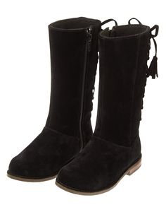 Velvety Lace-Up Boots at Gymboree