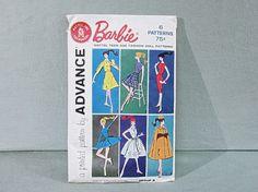 Advance Mattel Barbie Doll Pattern 1961