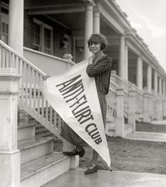 """The Anti FlirtClub - February 27, 1923. """"Miss Alice Reighly, 1409 Harvard Street, president of Anti-Flirt Club, which has just been organized in Washington, DC and will launch an 'Anti-Flirt Week' beginning March 4. The club is composed of young women and girls who have been embarrassed by men in automobiles and on street corners."""""""