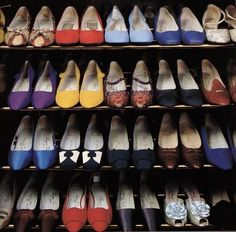 Duchess of Windsor's shoe closet.