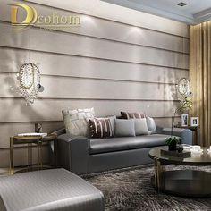 Resultado de imagem para papel de parede listrado cinza decoração