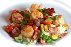 Unwrapped Bacon Scallops Fish Recipes, Seafood Recipes, Dinner Recipes, Dinner Ideas, Easy Cooking, Cooking Recipes, Healthy Recipes, Healthy Cooking, Seafood