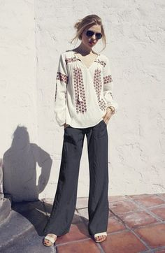 Joie Peasant Top & Pants  available at #Nordstrom I need the shoes too !