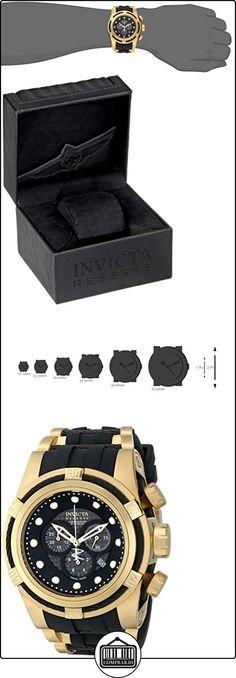 Invicta 12666Bolt Reserva Fibra de Carbono, color negro Cronógrafo Dial Negro Reloj de poliuretano  ✿ Relojes para hombre - (Lujo) ✿