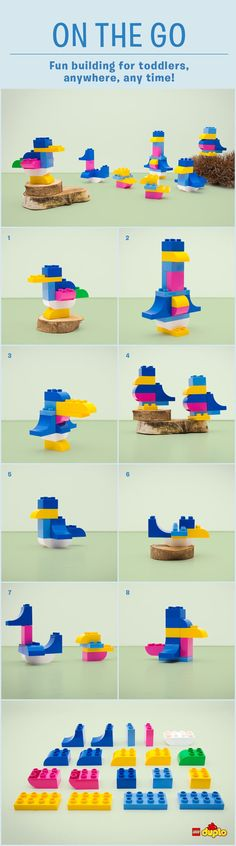 With just 19 LEGO DUPLO bricks, you and your toddler can spread your wings and have fun building wherever you are: http://www.lego.com/en-us/family/articles/on-the-go-bird-is-the-word-4f3cbc44ce0841329f27ae8bce0fc05a
