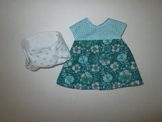Baby Stella//doll clothes//14 inch//handmade yellow//aqua dress top//bloomers//bow