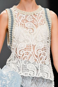 0a7c0e37647295 lace- Ermanno Scervino Spring 2012 Crochet Top