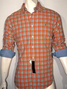 Polo Ralph Lauren plaid double-face shirt size xl custom fit #PoloRalphLauren #ButtonFront
