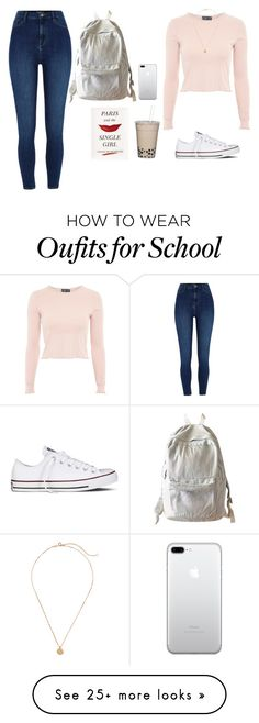 """""""Untitled #330"""" by rowancm on Polyvore featuring Topshop, Converse, WithChic and Kate Spade"""