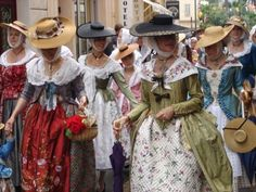 Traditional French Clothing, Traditional Dresses, 18th Century Dress, 18th Century Fashion, Costume Français, French Costume, Culture Day, French Outfit, Textiles