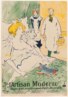 Henri de Toulouse-Lautrec (French, 1864–1901) L'Artisan Moderne, 1896 Color lithograph image: 35 1/16 x 24 1/2 in. (89.06 x 62.23 cm) sheet: 35 15/16 x 24 15/16 in. (91.28 x 63.34 cm) Gift of Mrs. Harry Lynde Bradley M1977.54 Photo credit John R. Glembin