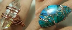Wire Wrapped Ring Tutorial - for long undrilled stones.