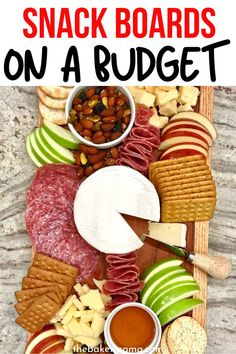 Boards on a Budget that serve a crowd. I share all the great snack boards that you and your family can enjoy. Great for parties, holidays, and so much more. Dinner Party Appetizers, Quick Appetizers, Snacks Für Party, Easy Appetizer Recipes, Snack Recipes, Appetizer Ideas, Fun Easy Recipes, Yummy Recipes, Yummy Food